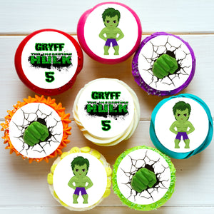 Incredible Hulk Edible Cupcake Toppers
