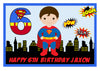 Superman Rectangle Edible Cake Topper