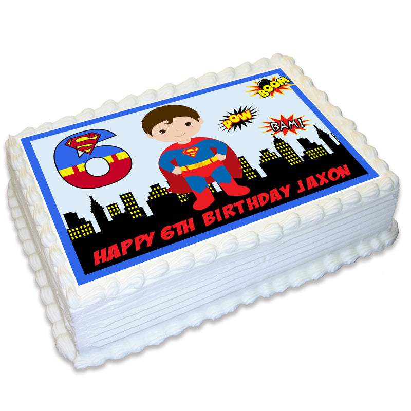 Superman A4 Edible Cake Topper