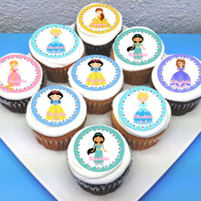 Princess Themed Edible Cupcake Toppers