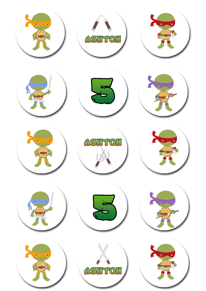 TMNT Edible Cupcake Toppers