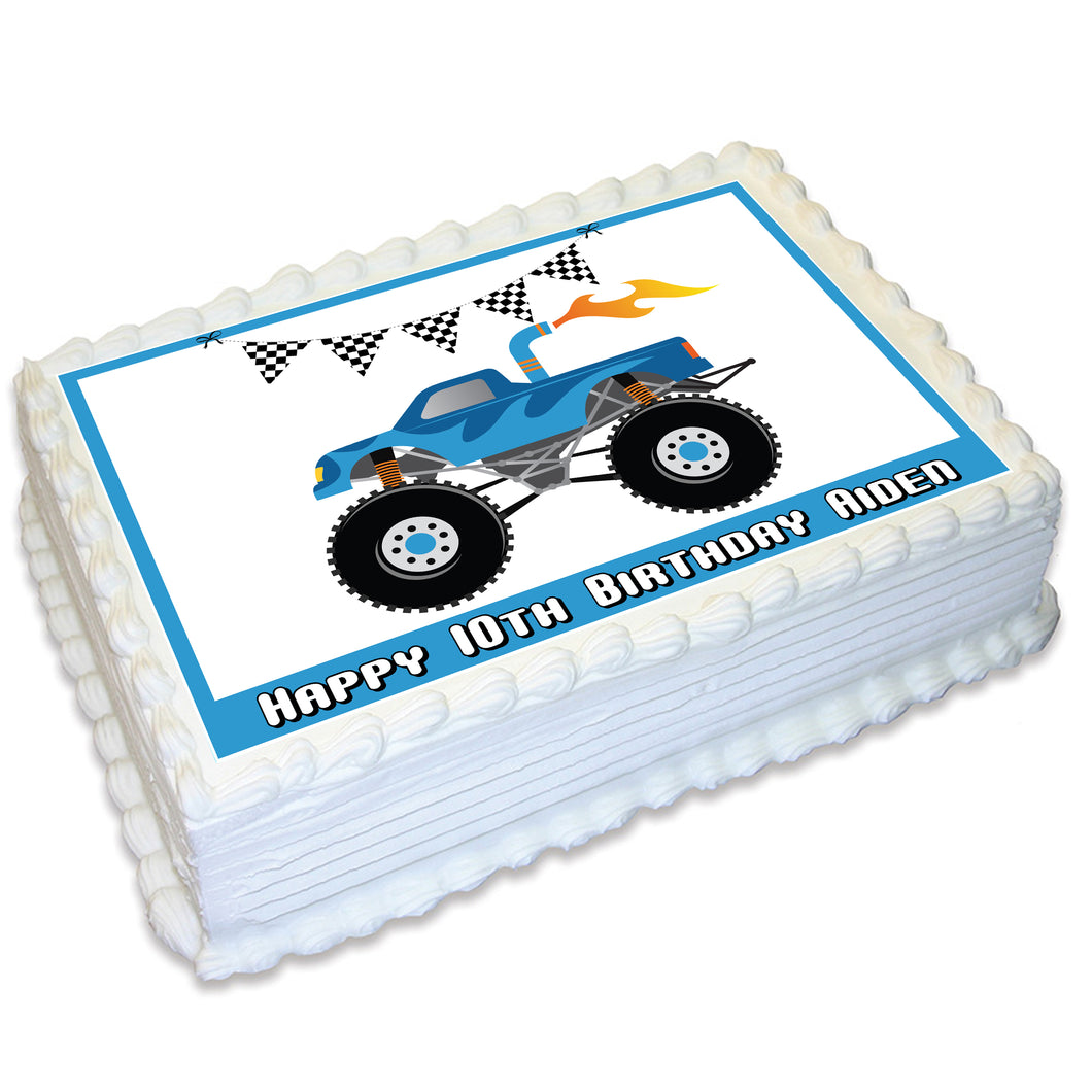 Monster Truck A4 Edible Cake Topper