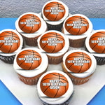 Basketball Themed Edible Cupcake Toppers