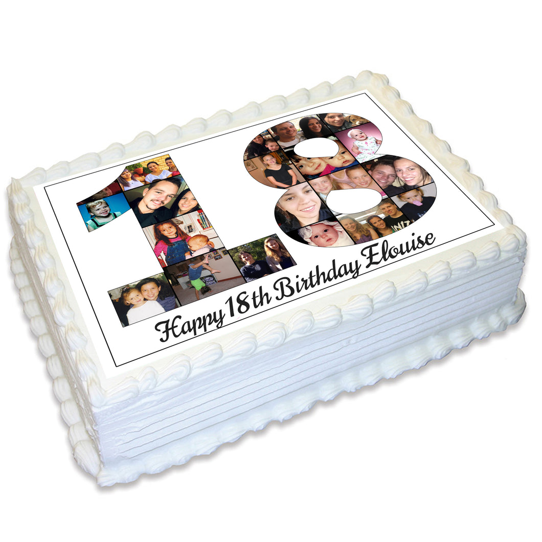 Photo Collage A4 Edible Cake Topper