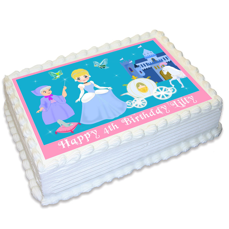 Princess Themed A4 Edible Cake Topper