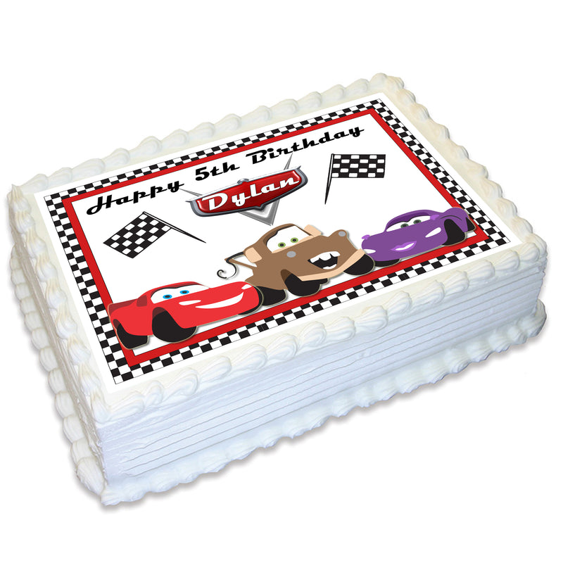 Cars A4 Edible Cake Topper