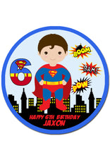 Superman Round Edible Cake Topper
