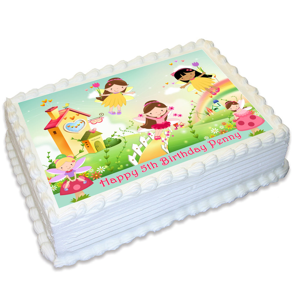 Fairy Rectangle Edible Cake Topper