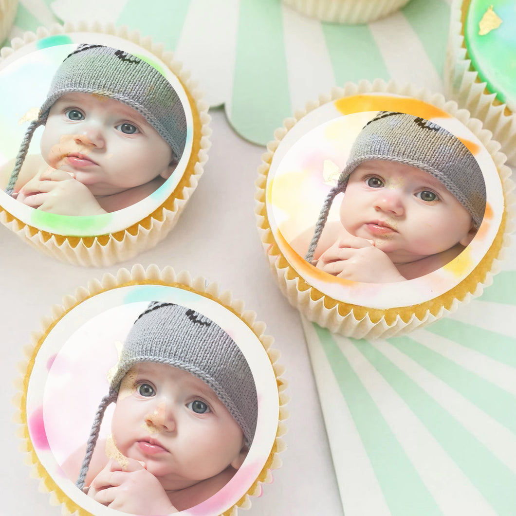 Edible Cupcake Toppers with Your Own Photos