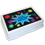 Laser Tag Rectangle Edible Cake Topper