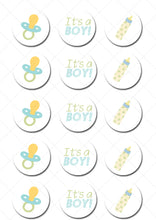 Baby Boy Edible Cupcake Toppers