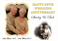 Anniversary A4 Edible Cake Topper with Photos