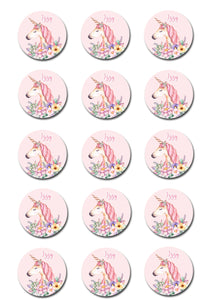 Unicorn Edible Cupcake Toppers