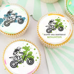 Dirt Bike Edible Cupcake Toppers