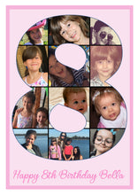 Number Photo Collage A4 Edible Cake Topper