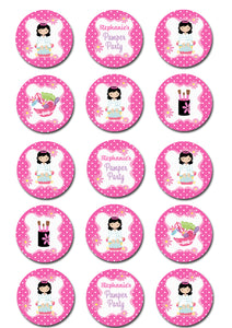 Pamper Spa Party Edible Cupcake Toppers