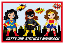 Superhero Girls A4 Edible Cake Topper