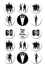 Gangsters & Gals Themed Edible Cupcake Toppers