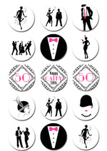 Gatsby 1920's Edible Cupcake Toppers
