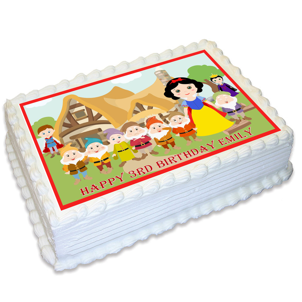 Snow White Rectangle Edible Cake Topper