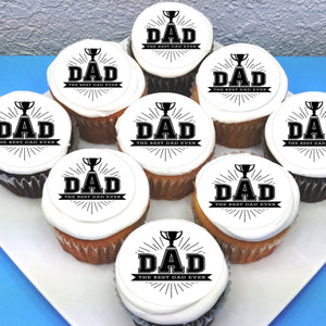 Fathers Day Dad Edible Cupcake Toppers