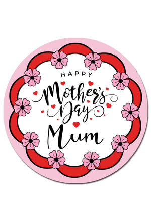 Mothers Day Round Edible Cake Topper