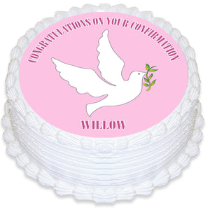 Confirmation Round Edible Cake Topper