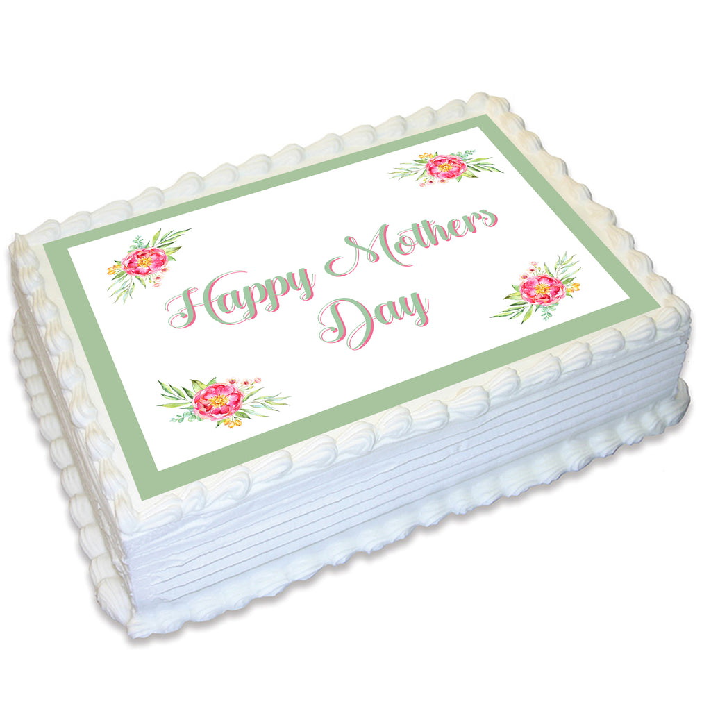 Mothers Day Rectangle Edible Cake Topper