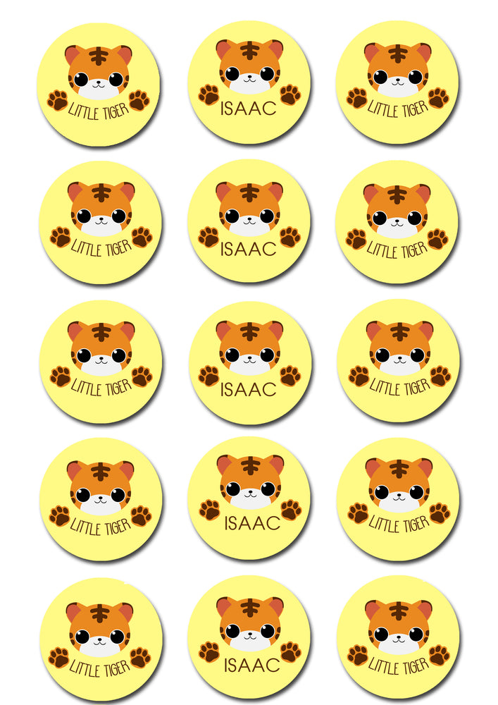 Cute Tiger Edible Cupcake Toppers