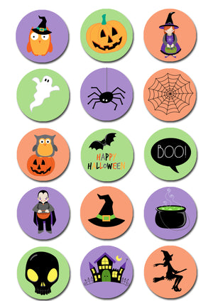 Halloween Edible Cupcake Toppers