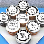 Birthday Edible Cupcake Toppers