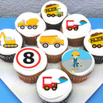 Construction Themed Edible Cupcake Toppers