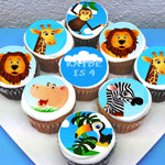 Jungle Animal Safari Edible Cupcake Toppers
