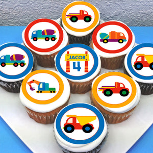 Truck Themed Edible Cupcake Toppers