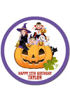 Halloween Round Edible Cake Topper