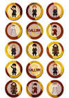 Harry Potter Edible Cupcake Toppers