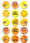 Nerf Wars Edible Cupcake Toppers