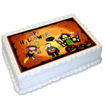 Halloween Rectangle Edible Cake Topper