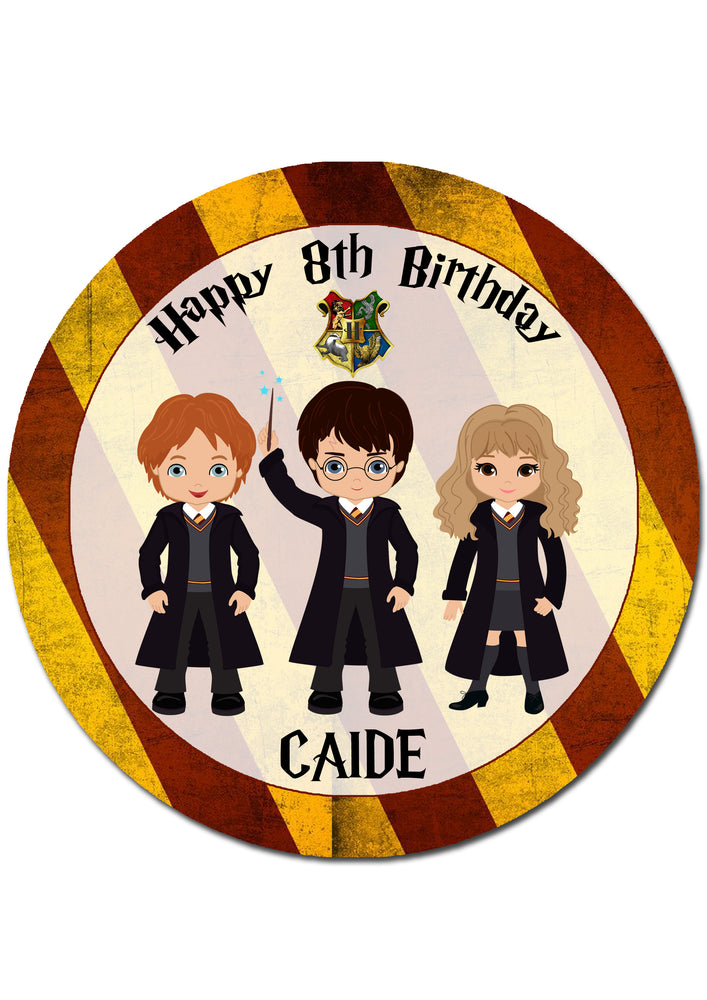 Harry Potter Round Edible Cake Topper