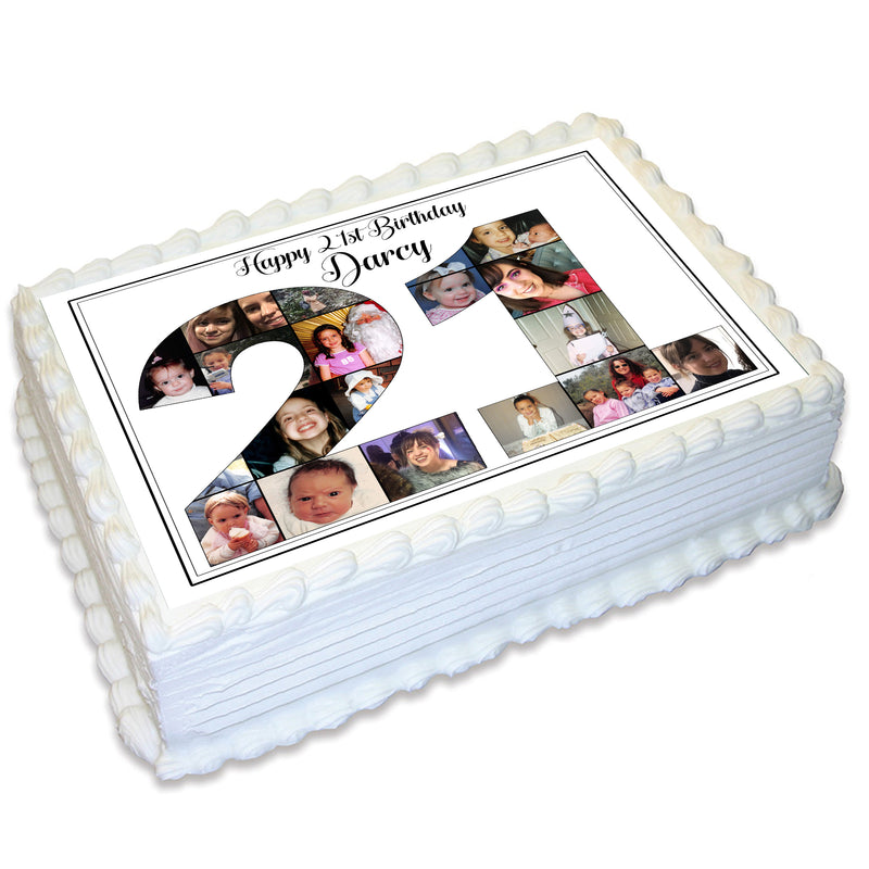 Photo Collage A4 Edible Icing Cake Topper