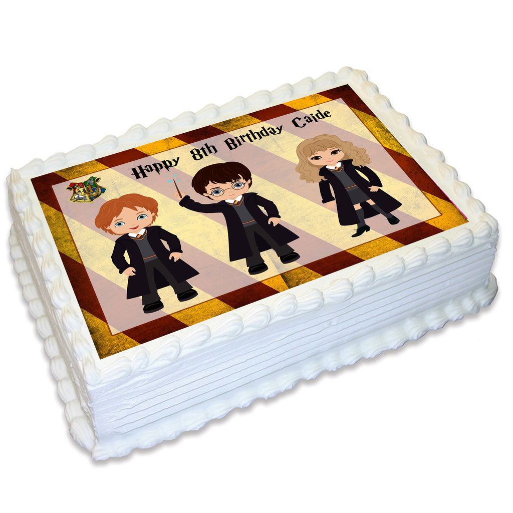 Harry Potter Inspired Rectangle Edible Icing Cake Topper