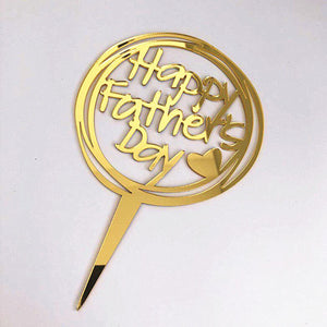 Happy Fathers Day Round Acrylic Cake Topper