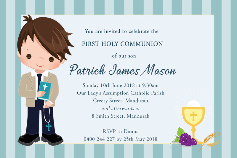 Patrick - First Holy Communion Invitation