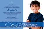 Brandon - First Holy Communion Invitation