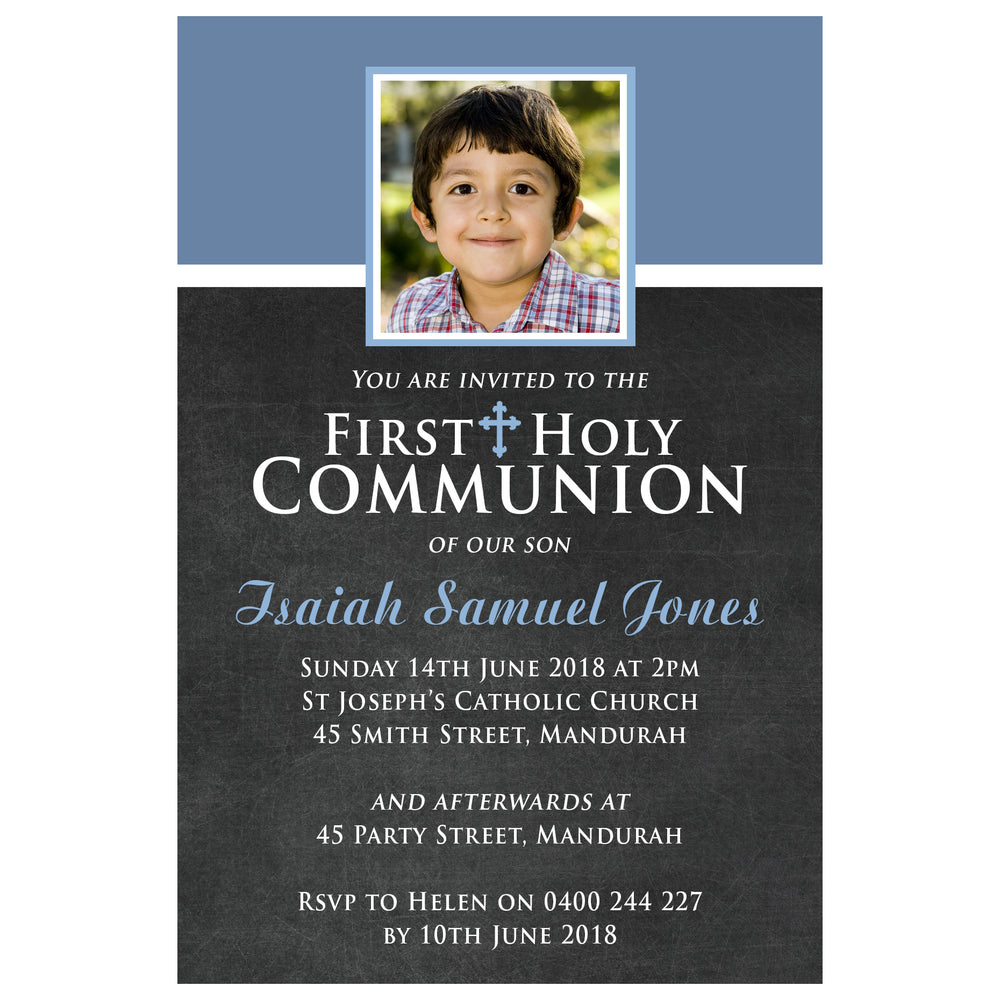 Isaiah - First Holy Communion Invitation
