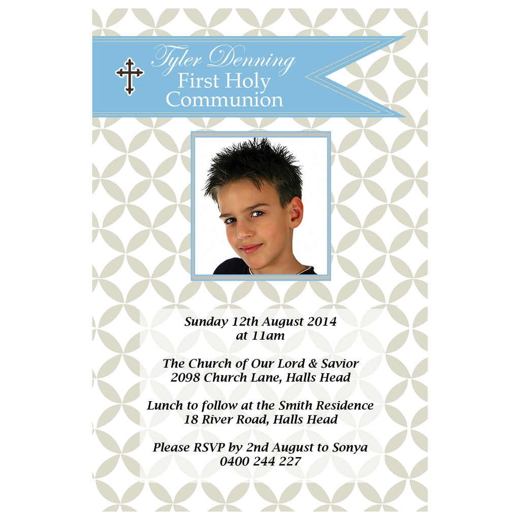 Tyler - First Holy Communion Invitation