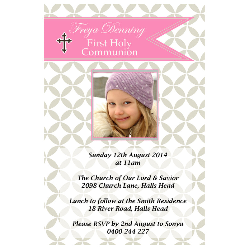 Freya - First Holy Communion Invitation