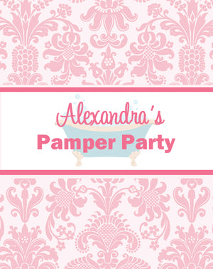 Pamper Spa Party Pop Top Labels - Set of 15