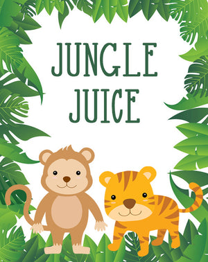 Jungle Animal Safari Pop Top Labels