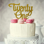 Number Twenty One Acrylic Cake Topper